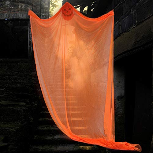 Halloween Hanged Ghosts, Scary Ghost Decoration Halloween Decor for Outdoor Yard Party Bar Indoor - Orange]()