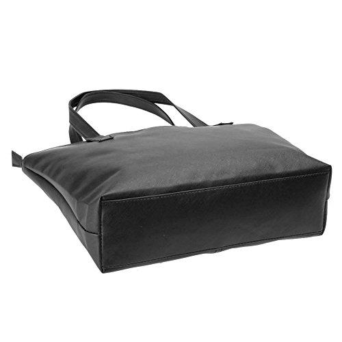 Shopping Bag Leather PU Shoulder Korean Fashion Handbag Widewing Bag Women x8aHnO
