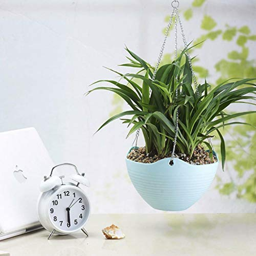 Hook Hanging w/Chain Flower Pot Basket Planter for Garden Home Decor -