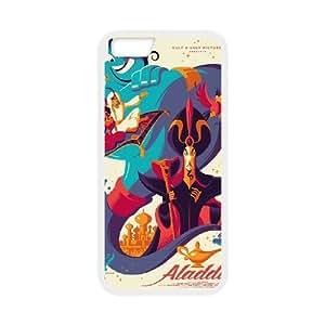 Disneys Aladdin and Jasmine Funda iPhone 6 Plus 5.5 Inch Funda Caja del teléfono celular blanco O2F1RS