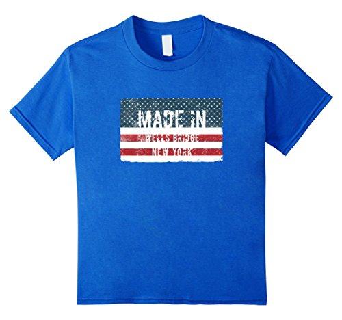 Unisex Child Made In Wells Bridge  New York T Shirt 6 Royal Blue