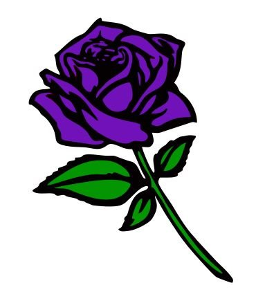 Purple Rose Car Bumper, Laptop, Auto, Wall Decal Sticker - R