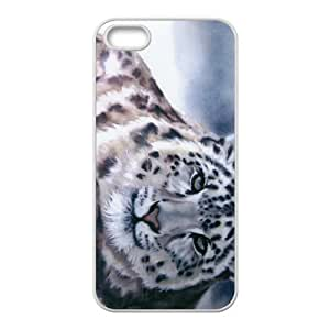 The Leopard Painting Hight Quality Plastic Case for Iphone 5s