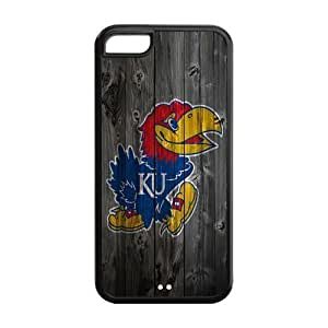 WY-Supplier NCAA iphone 5c case wood ncaa Apple Iphone 5C TPU phone case, Kansas Jayhawks Licensed NCAA Slim Protective Case for Apple Iphone 5C