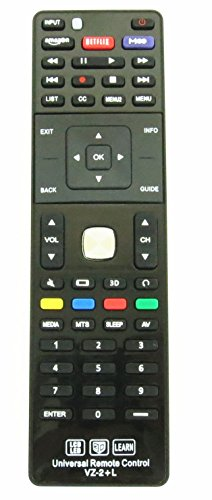 Gvirtue Universal TV Remote for Almost All Vizio LED LCD 3D Smart E Series TV Smart Internet Apps with Amazon, Netflix and M-GO Keys, Sub XRT112 XRT100 VR1 2 10 15 etc., VZ-2+L