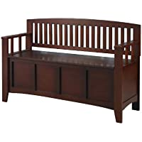 Cynthia Wood Storage Bench - Walnut