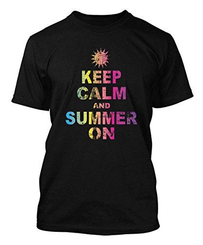 Keep Calm And Summer On Men's T-shirt (3XL, BLACK)
