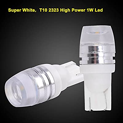 194 168 T10 Wedge LED Bulbs White, YITAMOTOR 906 161 2825 W5W 158 LED Interior Car Lights Bulbs for Dome Map License Plate Light, 2323 Chipsets, 12V, 6000K, 10-Pack: Automotive