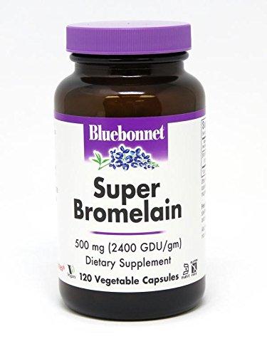 BlueBonnet Super Bromelain Vegetarian Capsules, 500 mg, 120 Count For Sale
