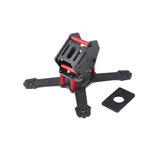 Makerfire X3RS 130mm Mini Carbon Fiber Quadcopter Frame Kit Micro FPV Racing Drone Frame ()