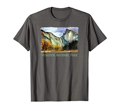 Yosemite Valley w/ Half Dome, Vintage Design T-Shirt