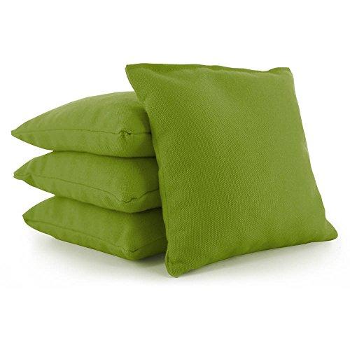 Board Bag Olive - Weather Resistant Cornhole Bags Set of 4 by Tailor Spot Resin Filled Regulation Size (Olive)