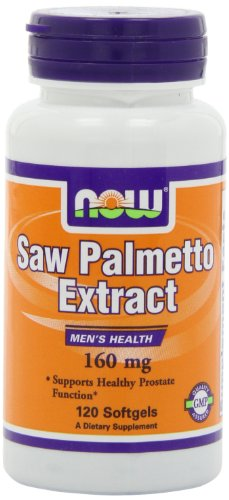 NOW Foods Saw Palmetto Extract 160mg, 120 (Extract 120 Softgels)