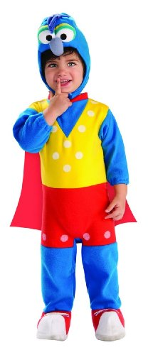 Hollywood Costumes And Rentals (Muppets Gonzo Ez-On Romper Costume, Multicolor, Newborn)