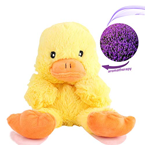 YunQiXin Soft Preschool Scented Stuffed Animal Plush Toddler Toys Cute Duck, Unisex Baby Child Gifts Microwave Aromatherapy Doll with Lavender Scent (10