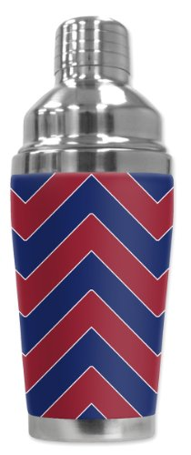 - Mugzie brand Cocktail Shaker with Insulated Wetsuit Cover - Giants Football Colors Chevron
