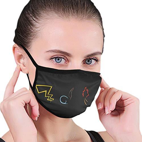 Pokemon Gotta Catch Em All Face Mask Dust Mouth Mask Anti-Dust Mask Black Side Unisex Washable Fashion Design