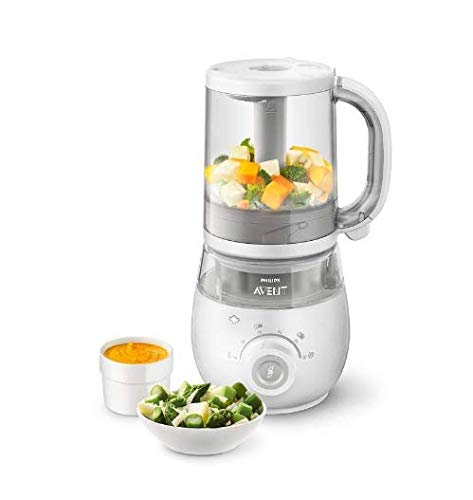 Philips Avent SCF875/01 4-in-1 Baby Food Maker, Steamer and Blender with...
