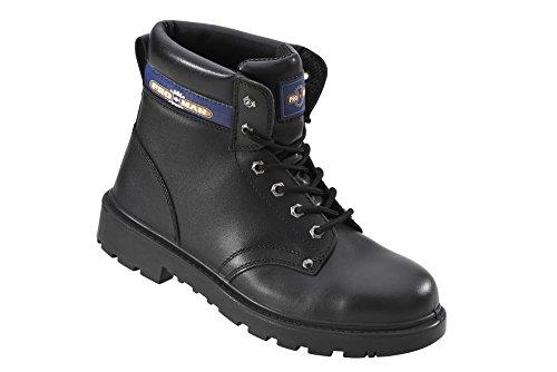 Travail En Pro Avec Pm4002 S3–cuir Sécurité Protection Chaussures Coque Individuelle orteils Couvre De Man Bottes Acier Noir 8w8qxU6C