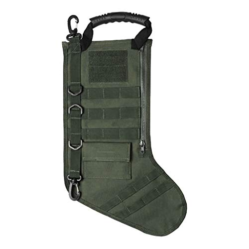 Sunnyys Tactical Christmas Stocking Molle Military Christmas Stocking Desert Woodland GN
