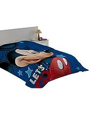 Export Trading Disney-Edredon con Relleno con diseño Mickey & Friends, 240 x 180 cm, Microfibra, Unico, 240x180x2 cm