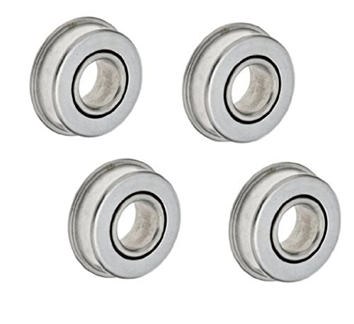 "Set of 4 Flanged Freeway Ball Bearings for Axles with 3/4"" ID and Wheel Bore of 1-3/8"" OD"