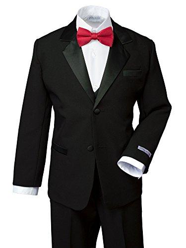 Spring Notion Boys' Classic Fit Tuxedo Set, No Tail 16 Black-True -