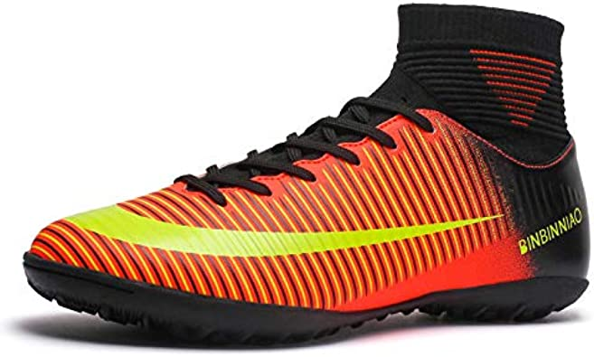 Right Outdoor Soccer Shoes Men Lightweight Sport Shoes Sneakers Breathable Football Shoes Kids Anti-Skid Soccer Boots Boys Student