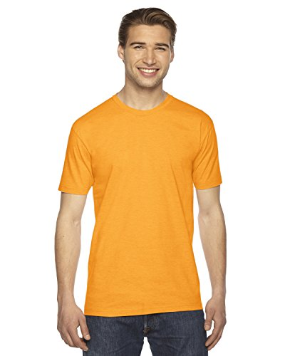 American Apparel Fine Jersey - American Apparel 2001 Unisex Fine Jersey Usa Made T-Shirt Gold L