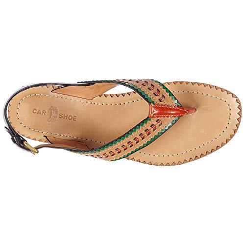 Donna Car Shoe Marrone Sandali Infradito tqRr6q