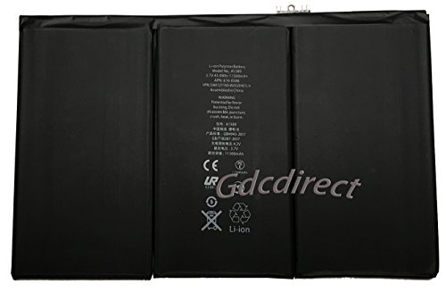 Replacement Internal Battery for iPad 3 3rd 4 4th Generation 11560mAh A1389 A1460 A1458 by GDC Direct Inc