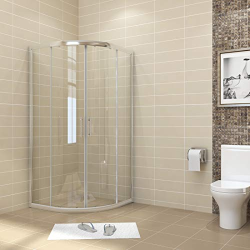 (ELEGANT Round Sliding Corner Shower Enclosure, 36 7/10