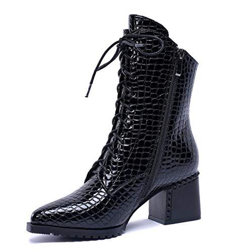 Talon extérieure de Bottes Martin Chaussures Femmes Cheville Noir Bas Mode Mode PpqPIF