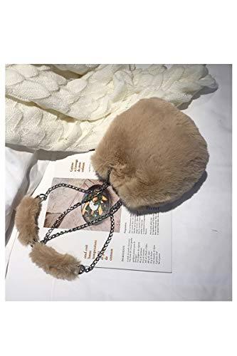 Borsa donna pelliccia a sintetica in tracolla in tracolla Borsa a Inverno peluche per piccola Inverno qSwFRv0