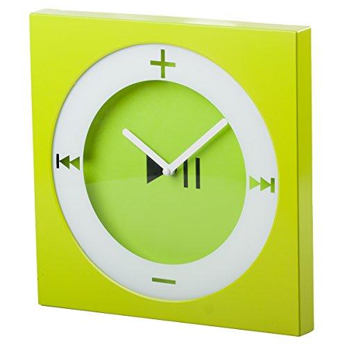 EdgeVantage Trendy Wall Clock Pop Art Decorative Square Modern Bright Green Fun