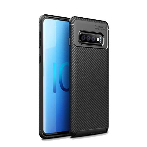Galaxy S10 Plus Case,DAMONDY Carbon Fiber Texture Design Anti-Slip Shockproof Armor Slim Fit Protective Soft TPU Silicone Gel Bumper Back Phone Case Cover for Samsung Galaxy S10 -