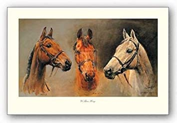 We Three Kings Susan Crawford Horse Art Print 18x31