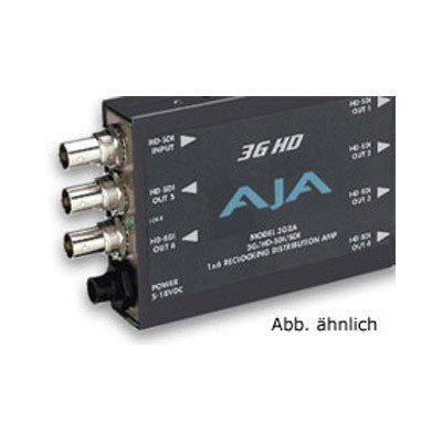 Sd Sdi Distribution Amplifier - AJA 3GDA 1x6 3G/HD/SD Reclocking Distribution Amplifier
