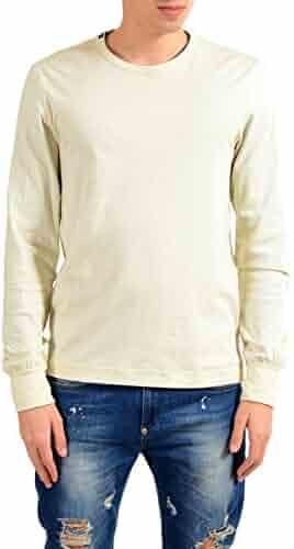 b68175d0d2 Dolce & Gabbana White/Green Long Sleeve Reversible Men's T-Shirt US S IT