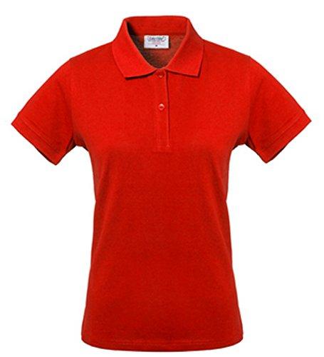TAKE TIME Polo Maniche Corte Donna Extra Slim Cotone Per Divise Rosso HH156