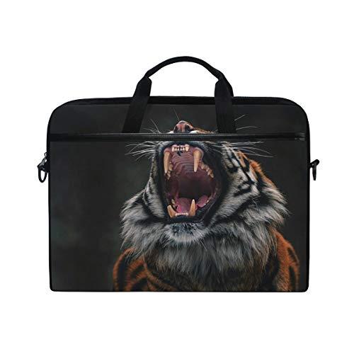 Angry Tiger Laptop Shoulder Messenger Bag for 15 inch to 15.4 inch MacBook Pro Laptop MacBook Air Notebook Computer Ultraportable Protective Velvet Handbag