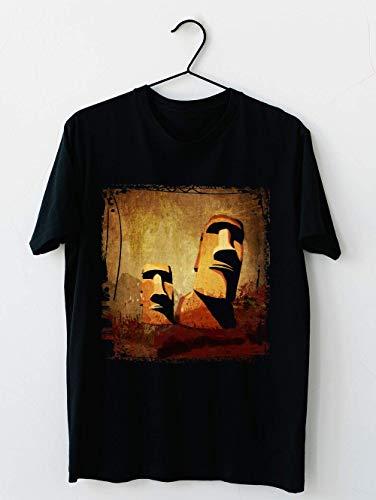 Têtes de Moaï de l'île de Pâques Cotton short sleeve T shirt, Hoodie for Men Women Unisex
