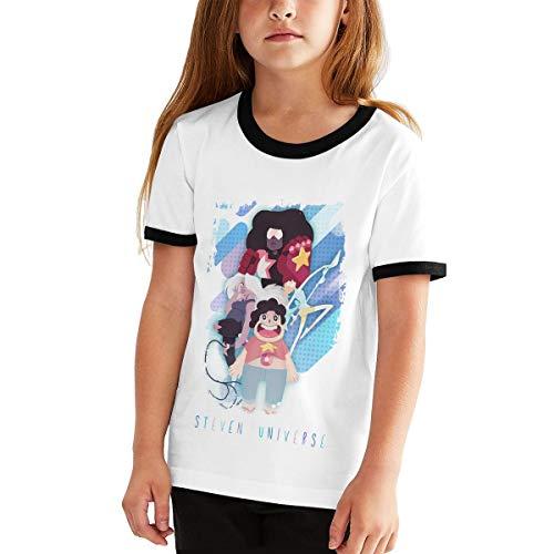 Kangtians RHZTPYRDE Steven Universe Girls Boys Youthful Fashion Fun Short Sleeve T-Shirt Black XL -