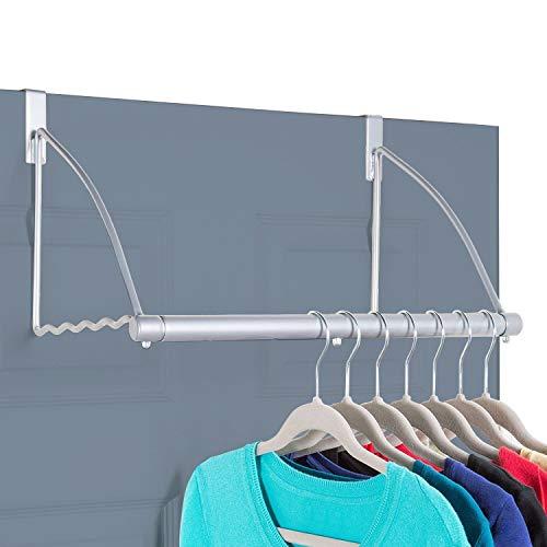 Hold N Storage Over The Door Closet Valet- Over The Door Clothes Organizer Rack and Door Hanger for Clothing or Towel…
