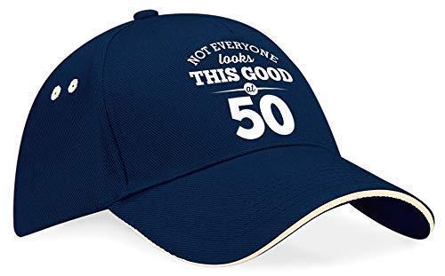 50th Birthday Baseball Cap Hat Gift Idea Present keepsake for Women Men