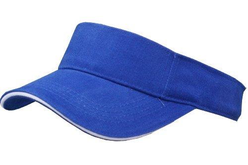 Just 4 Fun Leisurewear Royal Blue Sun Visor Sports Golf Tennis Cap ... 680a05c65e6
