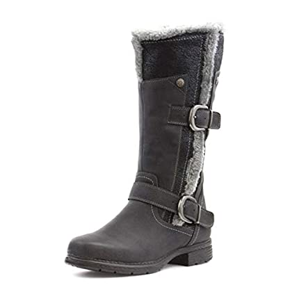 LILLEY Womens Grey Warm Lined High Leg Boot