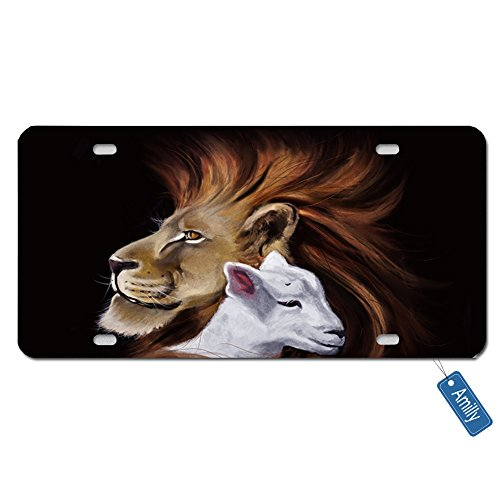 - Amilly Personalized Custom The Lion And Lamb License Plate 6