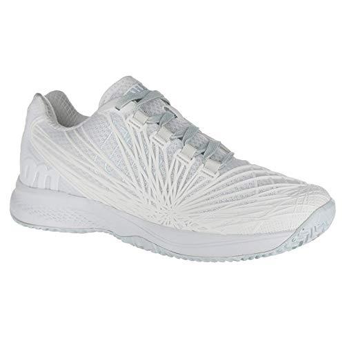 (Wilson Women's KAOS 2.0 SFT Tennis Shoe (White/White/Blue Glow, 9.5 M US))