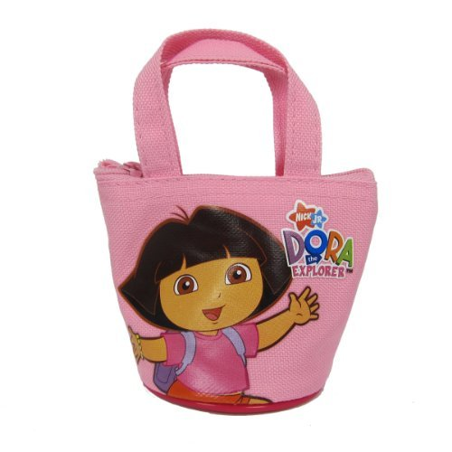 MIRAGE Officially Licensed Dora the Explorer Mini Handbag Style Coin Purse - Dora